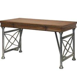 Single Drawer Pewter Desk