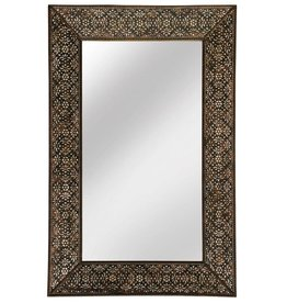 Beveled Mirror, White Wash Finish