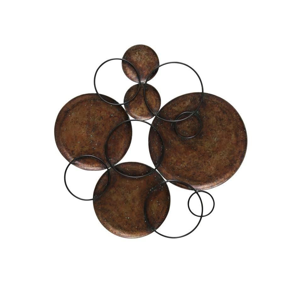 Metal Circle Wall Art black and copper circle wall art - beckman's
