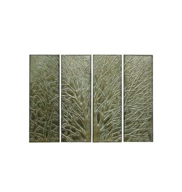 Set of Four Metal Wall Art Panels