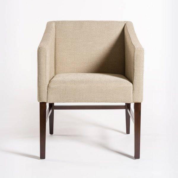 Preston Dining Chair In Khaki Herringbone U0026 Dark Walnut ...