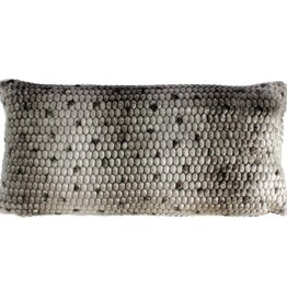 Harp & Finial Ponca Bolster Pillow, Gray