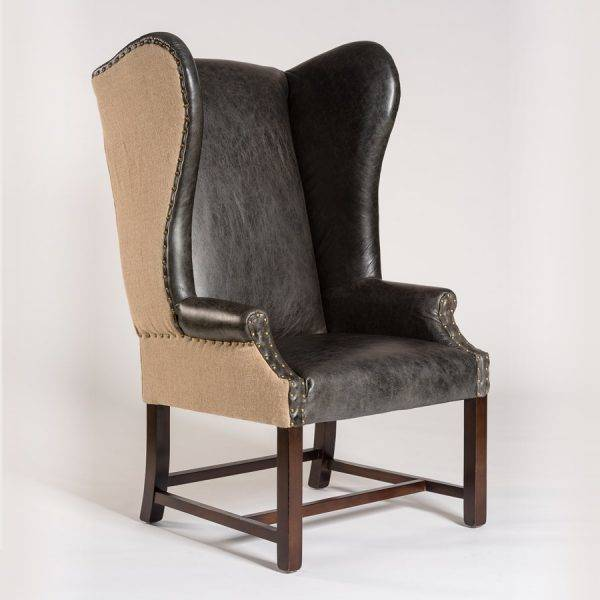 Rockwell Occasional Chair in Antique Charcoal & Natural Burlap ... - Occasional Chairs - Beckman's