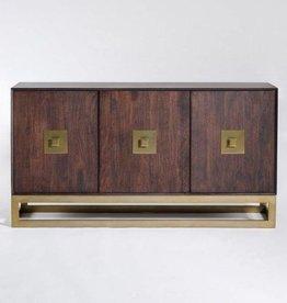 Westchester Sideboard in Walnut & Antique Brass