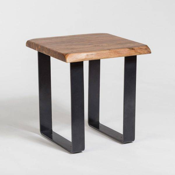Tahoe Live Edge End Table In Natural Finish ...