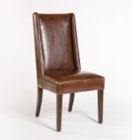 Tribeca Dining Chair in Antique Saddle and Dark Walnut