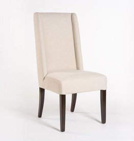 Tribeca Dining Chair in Cement Herringbone and Ebony