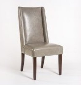 Tribeca Dining Chair in London Fog and Dark Walnut