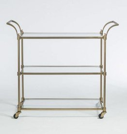Wakefield Bar Cart in Antique Brass