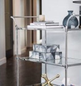 Wakefield Bar Cart in Polished Chrome