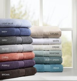 800GSM 100% Cotton 8 Piece Towel Set, Silver