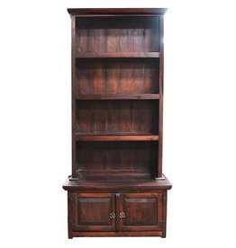 "2 PC 39"" Walnut Bookcase"