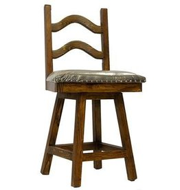 "24"" Laguna Swivel Barstool W/Leather Seat"