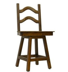 "24"" Laguna Swivel Barstool W/Wood Seat"