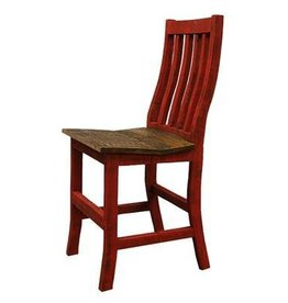 "24"" Red Santa Rita Bar Stool"