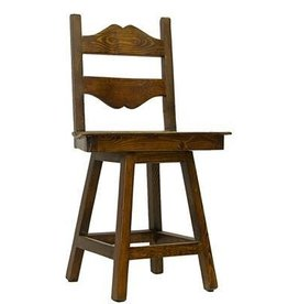 "24"" Tuscan Swivel Barstool W/Wood Seat"