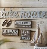 Lake House Metal Sign