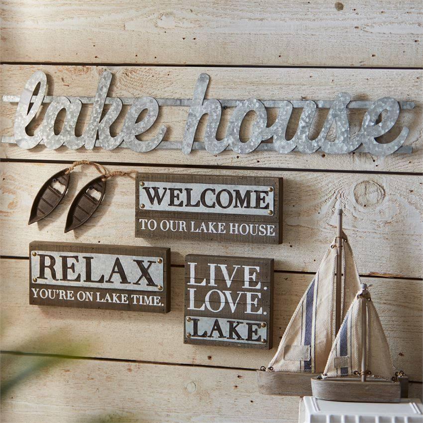 Metal Lake House Sign Beckman S