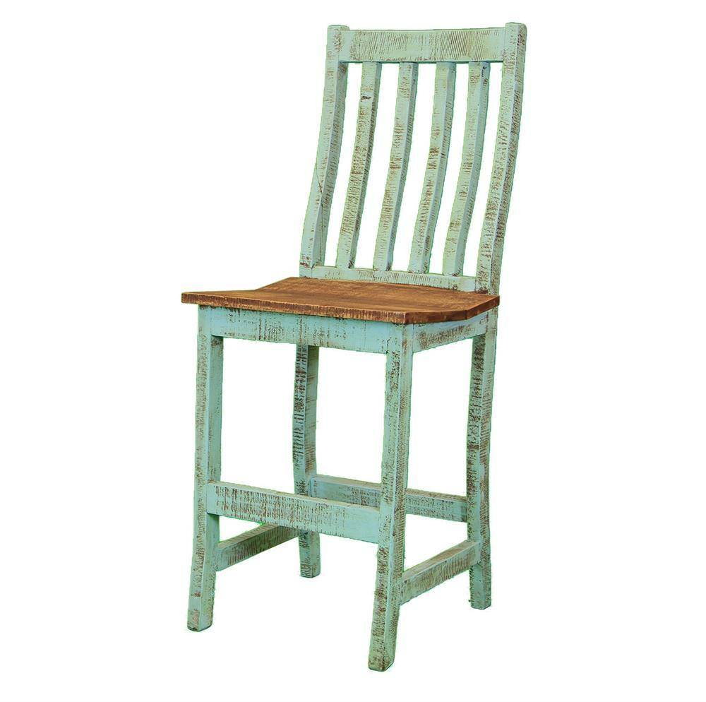 Rustic Painted Bar Stool Beckmans