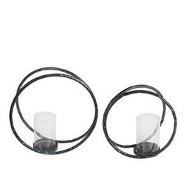 Privilege 2 Pc Candle Holders - Circles