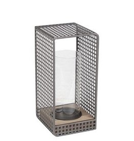 Privilege Small Lantern - Wood & Iron