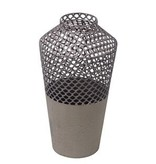 Privilege Small Metal Mesh Vase