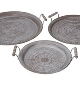 Privilege 3 Pc Iron Trays - Stamped