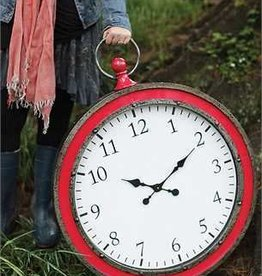Metal Pocket Watch Wall Clock, Watermelon