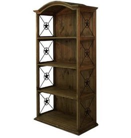 "40"" Bookcase W/Iron Stars Medio Finish"