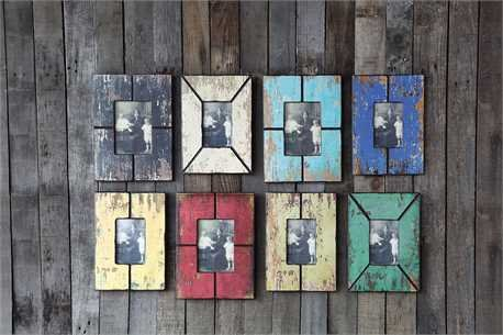 "4x6"" & 5x7"" MDF Photo Frame, Distressed Wood Finish"