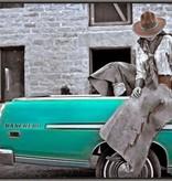Ranchero Cowgirl, Turquoise 30x40