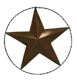 "24"" Metal Rope Star W/Barbed Wire"