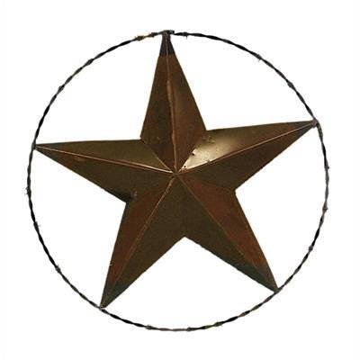 12 Metal Rope Star W Barbed Wire