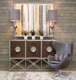 Harp & Finial Edison Swivel Chair