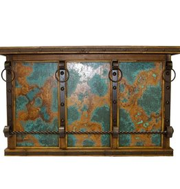 Bar W/Turquoise Copper Panels