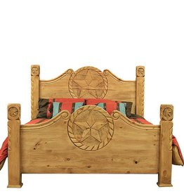 Country Bed W/Rope and Star Detail