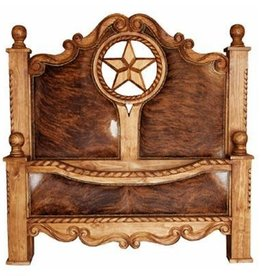 Wood Bed With Cowhide