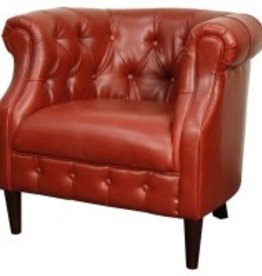 Luna Bonded Leather Tufted Tub Chair