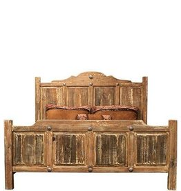 Antique White Wash Bed