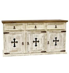 3 Door/Drawer Buffet W/Cross