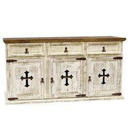 3 Door/Drawer Buffet W/Cross