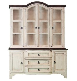 White/Walnut Cristy China Cabinet