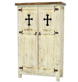 2 Door Cabinet W/Cross