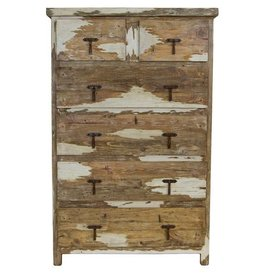 Antique White 6 Drawer Chest