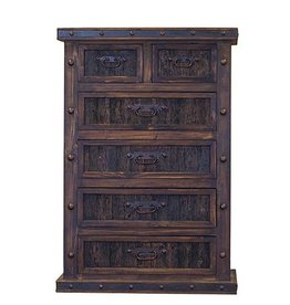 Chest 6 Drawer W/Reclaimed Wood Panels