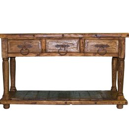 Reclaimed Wood 3 Drawer Console