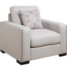 Coaster Rosanna Upholstered Chair with Nailhead Trim and Wide Track Arms