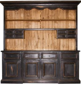 Black 2 Piece China Hutch