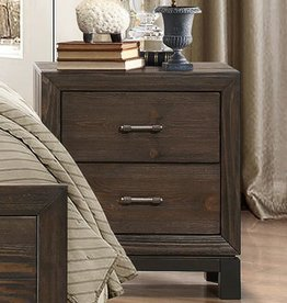 Homelegance Branton Night Stand, Antique Brown