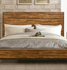 Homelegance Queen Sorrel Panel Platform Bed, Rustic